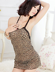cheap -SKLV Women's Polyester Robes/Ultra Sexy/Suits Leopard Print Nightwear/Lingerie