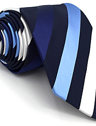 cheap -B27 Men Ties Blue Stripes 100% Silk Business New Fashion Wedding Dress For Men