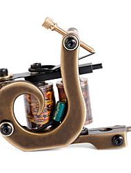 solong Tätowierung benutzerdefinierte Messing Tattoo Maschinengewehr 12 Wrap handgefertigt aus reinem Kupfer-Spulen für Shader m207-2