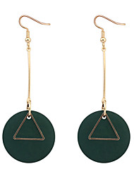cheap -Drop Earrings Hoop Earrings Copper Wood Simple Style Fashion Black Red Green Jewelry Daily 1 pair