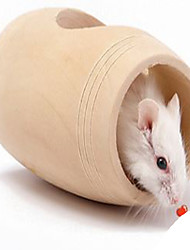 Rodents Cages Toy Tunnel Wood Khaki