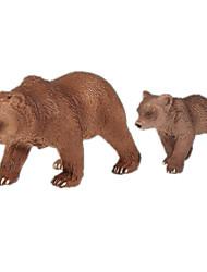 baratos -Urso Modelos de exibição Animais Simulação Clássico Chique & Moderno Policarbonato Plástico Para Meninas Dom 1pcs