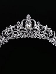 cheap -Crystal Rhinestone Fabric Alloy Tiaras 1 Wedding Party / Evening Headpiece