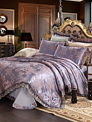 cheap -Betterhome  Luxury Jacquard Silk Cotton Blend 4pcs Duvet Cover Bed Sheet Pillowcase Bed Linen
