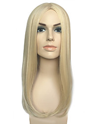 Synthetic Wig Women Party Wig For Women Style Long Straight Blonde Mid-Part Cosplay Wigs Hairstyle Costume Wig