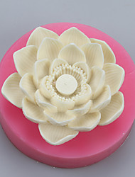 cheap -Lotus Flower Candle Sugar Clay Hand Soap  Salt Carved  DIY Silicone Food Grade Silicone Mold