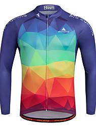Miloto Maglia da ciclismo Per uomo Manica lunga Bicicletta Maglietta Felpa Maglietta/Maglia Top Asciugatura rapida Permeabile all'umidità