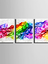 cheap -Abstract Fantasy Modern, Three Panels Canvas Vertical Print Wall Decor Home Decoration