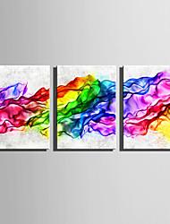 baratos -Abstrato Fantasia Modern, 3 Painéis Tela de pintura Vertical Estampado Decoração de Parede Decoração para casa