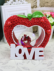 1 PC Creative LOVE heart-shaped apple shape crystal ball decoration decoration lamp Home Furnishing wedding couple student gift