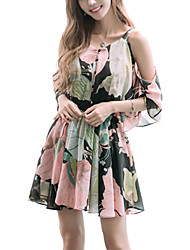 cheap -Women's Off The Shoulder Daily / Party Vintage / Street chic Sheath Dress