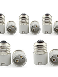 cheap -E27 to B22 Convertible Lamp Base E27-B22 Bulb Light Bayonet Socket 85-265V (5 Pieces)