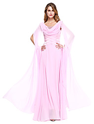 cheap -Ball Gown Jewel Neck Floor Length Chiffon Mother of the Bride Dress with Beading by LAN TING BRIDE®