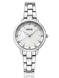 baratos -KEZZI Mulheres Bracele Relógio / Relógio de Pulso imitação de diamante Lega Banda Luxo / Casual / Fashion Prata / Ouro Rose