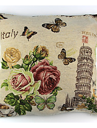 cheap -RayLineDo® Linen Cotton Square Throw Pillow Cover Pisa Tower Decorative Pillow Case CTJZ21-PC-PT
