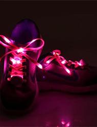 Недорогие -1 пара светящиеся шнурки свечение вскользь водить ботинки натягивает спортивную обувь партии кемпинг шнурков для выращивания холст обувь
