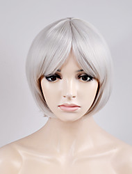 cheap -Synthetic Hair Wigs Straight Bob Haircut Capless Carnival Wig Halloween Wig Natural Wigs Short White Synthetic Wig