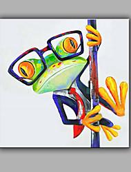 economico -Dipinta a mano Astratto Animali Quadrata,Modern Un Pannello Tela Hang-Dipinto ad olio For Decorazioni per la casa