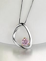 Pendants Sterling Silver Zircon Cubic Zirconia Basic Unique Design Fashion Silver Jewelry Daily 1pc