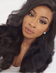 cheap -Human Hair Lace Front Wig / Glueless Lace Front Wig 360 Frontal / Body Wave 180% Density Natural Hairline / African American Wig / 100% Hand Tied Women's Medium Length / Long Human Hair Lace Wig