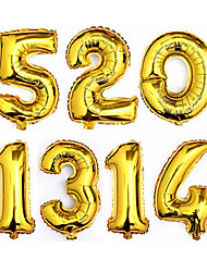 40 inches Gold Silver Number Foil Balloons Digit Helium Ballons Birthday Party Wedding Decor Air Baloons Event Party Supplies-1Piece/Set