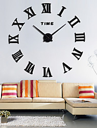 cheap -Large Roman Wall Clock Acrylic Mirror Diy Clocks Home Decoration Living Room Wall Stickers Modern Design