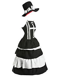 cheap -Inspired by One Piece Perona Anime Cosplay Costumes Cosplay Suits Dresses Vintage Sleeveless Dress Hat For Women's