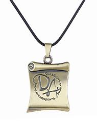 cheap -Men's Square Unique Design Logo Style Dangling Style Pendant Necklace Jewelry Alloy Pendant Necklace ,