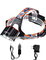 cheap -U'King Headlamps Headlight LED 3000 lm 4 Mode Cree XM-L T6 with Chargers Mini Easy Carrying Camping/Hiking/Caving Everyday Use