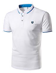 cheap -Men's Sports Cotton Polo - Solid Colored Shirt Collar