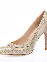 Women's Heels Spring Summer Fall Winter Glitter Tulle Wedding Outdoor Office & Career Dress Casual Party & Evening Stiletto HeelGold