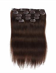 abordables -A Clipser Extensions de cheveux humains Cheveux humains Droit Femme Quotidien
