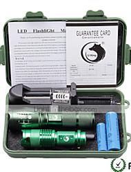 U'King LED Taschenlampen Taschenlampen Sets LED 1500 Lumen 5 3 Modus Cree XP-E R2 Cree XM-L T6 ja einstellbarer Fokus für Camping /