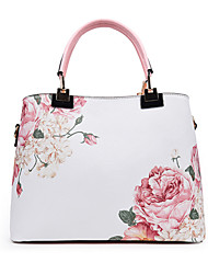 Women Bags All Seasons PU Tote Rivet for Event/Party Formal Outdoor Office & Career Blue White Black Blushing Pink