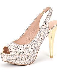 Da donna-Tacchi-Matrimonio Formale Serata e festa-Scarpe Flower Girl Club Shoes-A stiletto-Lustrini Materiali personalizzati