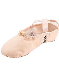economico -Da donna Balletto Tessuto Ballerine Esibizione Cucitura in pizzo Piatto Beige Non personalizzabile