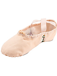 cheap -Women's Ballet Fabric Flat Performance Stitching Lace Flat Heel Beige Non Customizable