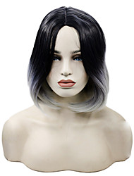 Ombre T1B/Grey Bob Synthetic Lace Front Wigs Straight Hair Heat Resistant Synthetic Fiber Hair Short Bob Wig
