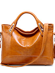 Women Bags All Seasons PU Tote for Wedding Event/Party Casual Sports Formal Outdoor Office & Career Black Brown Wine