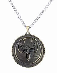 cheap -Men's Women's Circle Unique Design Logo Style Dangling Style Pendant Necklace Jewelry Alloy Pendant Necklace ,