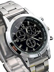 cheap -Men's Wrist watch Fashion Watch Quartz Hot Sale Alloy Band Casual Cool Silver
