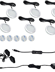 cheap -6PCS 3W  Warm White / Cool White  LED Under Cabinet Lights  85-265V