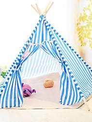 Cat Dog Tent Foldable Tent Blue Orange Fabric Wood   Log Triangular Tent Warm Kennel Cat Pet Beds Pet Supplies
