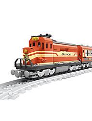Недорогие -AUSINI Конструкторы 630 pcs Шлейф Cool Оригинальные Электрический Поезд Поезда и наборы железной дороги Мальчики Игрушки Подарок