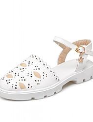 preiswerte -Damen Schuhe Kunststoff Kunstleder PU Frühling Sommer Herbst Winter Komfort Neuheit Flache Schuhe Walking Flacher Absatz Runde Zehe