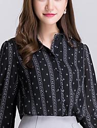 Real shot 2016 autumn new Korean OL Slim ladies bubble long-sleeved chiffon shirt female