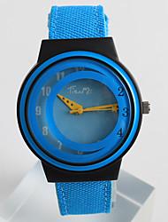 baratos -Mulheres Relógio de Moda Único Criativo relógio Quartzo / PU Banda Casual Azul Cinza