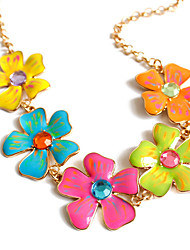 Women's Pendant Necklaces Jewelry Flower Cross Jewelry Alloy Unique Design Flower Style Flowers Floral Fashion Adorable Euramerican