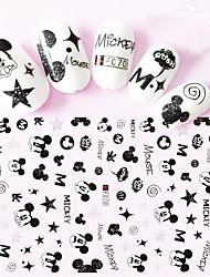 cheap -1pcs Nail Art Sticker Special Lovely Cartoon Mickey 3D Nail Stickers Nail Art Design F070