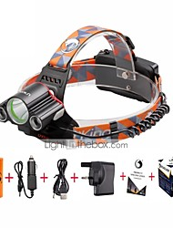 cheap -U'King Headlamps Headlight LED 4800 lm 4 Mode Cree XM-L T6 with Batteries and Charger Mini Easy Carrying Camping/Hiking/Caving Everyday